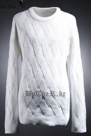 Comb Grid Knit T-Shirt