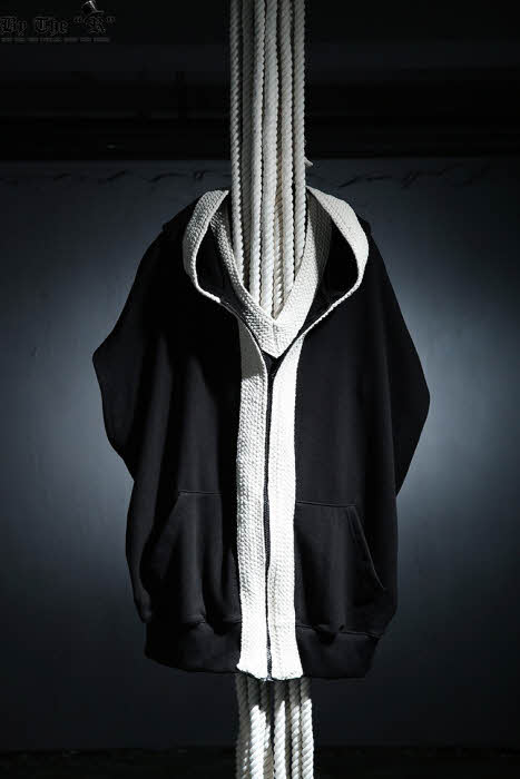 ByTheR Flat Rope Decorated Boxy Fit Zip Up Hoodie