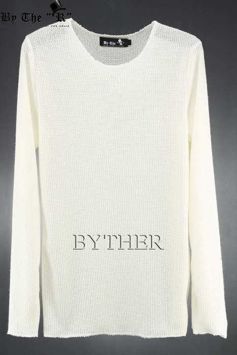 ByTheR Basic See-Through Knit T-Shirts