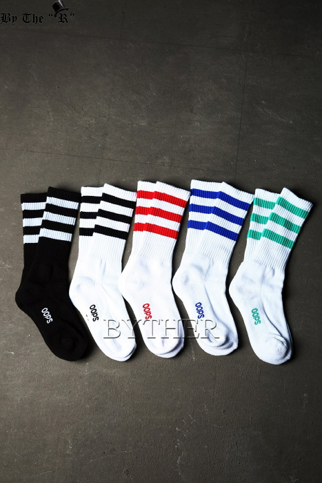 Triple Color Line Socks
