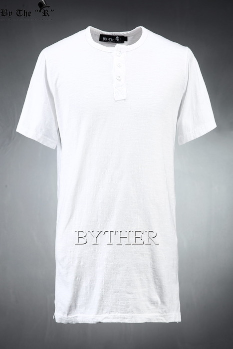 ByTheR Washing Henley-neck T-shirt