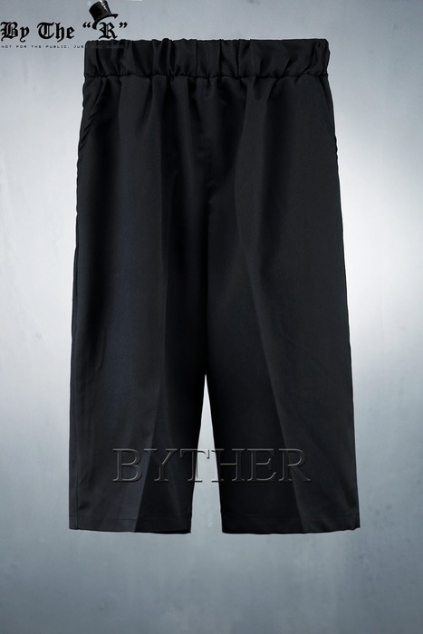 ByTheR Wide Banding Close Crop Slacks