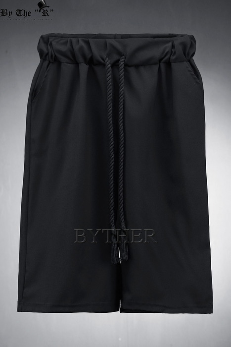 ByTheR Black Cropped Wide Pants