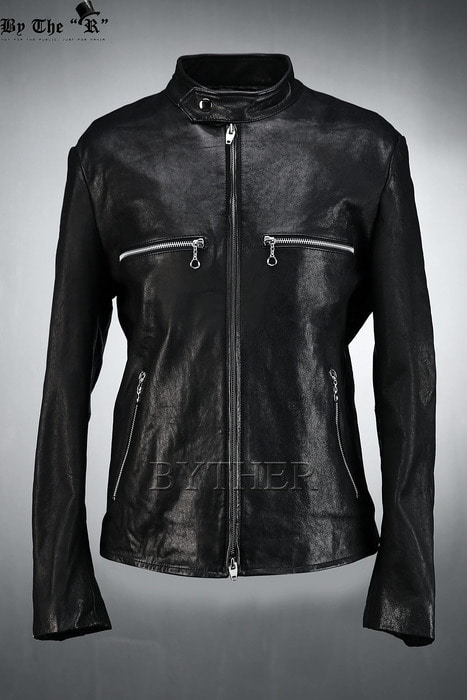 Sheepskin Ring Zipper Single Rider Jacket