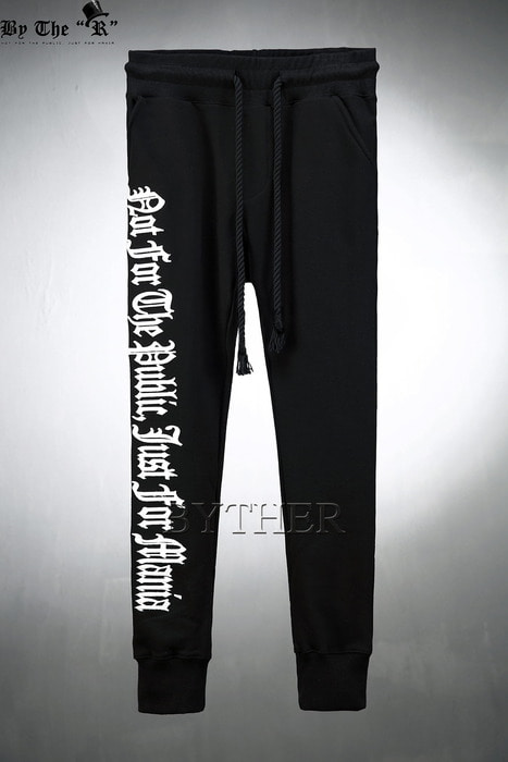 ByTheR Side Lettering Jogger Pants