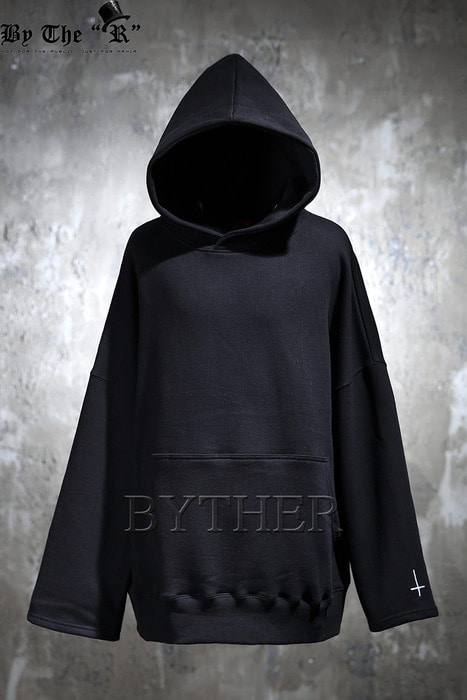 ByTheR X ProjectR Crosse Embroidery Loose-fit Hoodie