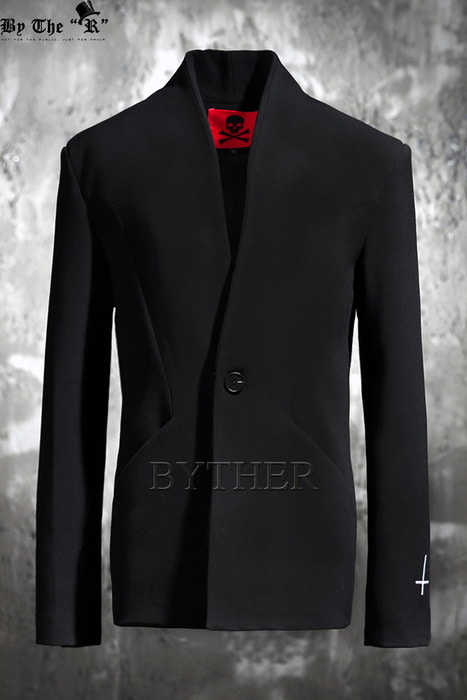 ByTheR  Black One Button Blazer