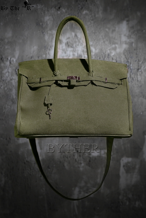 Khaki Canvas Big Size Bag