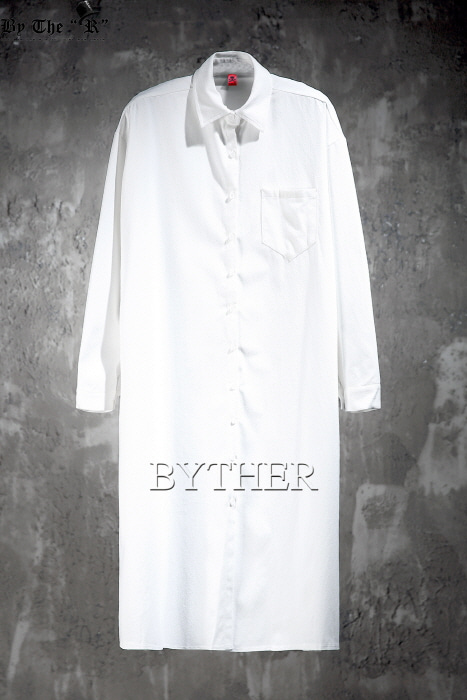 ByTheR Loose-fit Side Slit Long Shirts