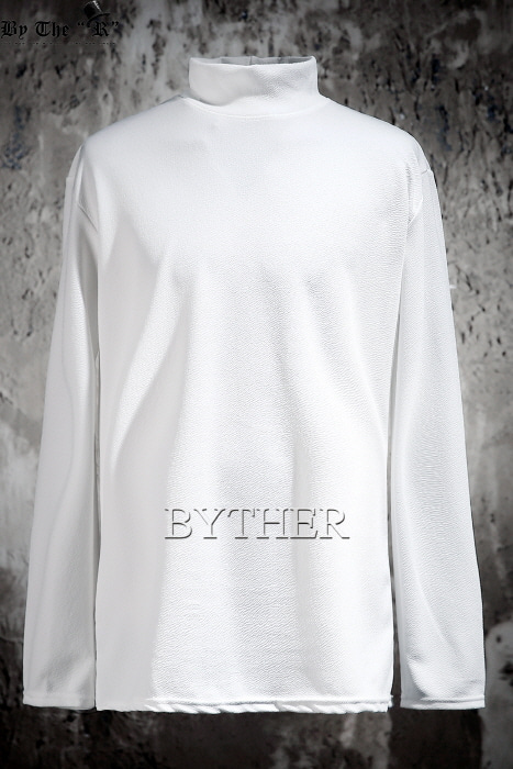 Basic Embossed Half Neck T-shirt