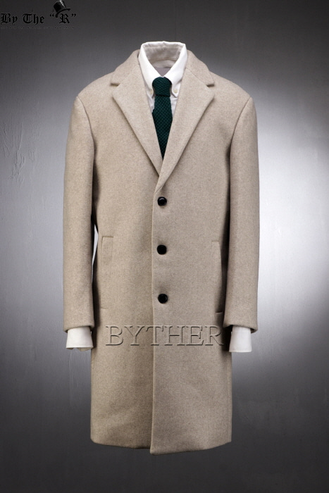 Oatmeal Woolen Span Single Coat