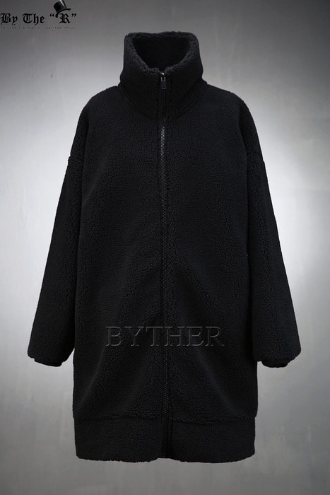 ByTheR Woolen Turtleneck Long Zip-up