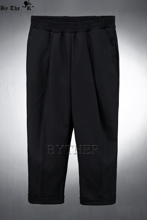ByTheR Woolen Crop Banding Slacks