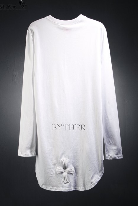 ByTheR Unbalance Round Hemline Cross T-shirts-z