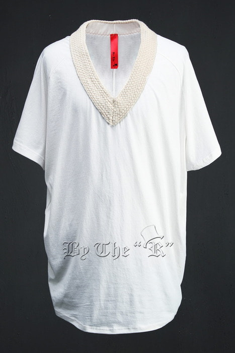 ByTheR Flat Rope V-Neck Boxy T-Shirts