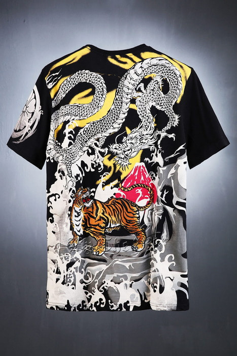 ByTheR Dragon Tiger Oriental Irezumi T-shirt