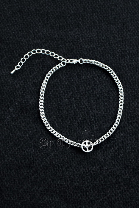 Peace Pandent Chain Anklet