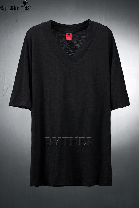 ByTheR Cotton Band V-neck T-shirts
