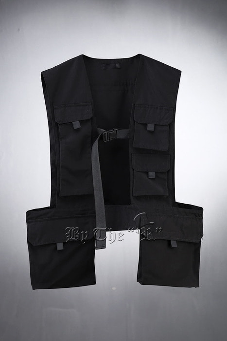 Techwear Multi-Pocket Black Vest