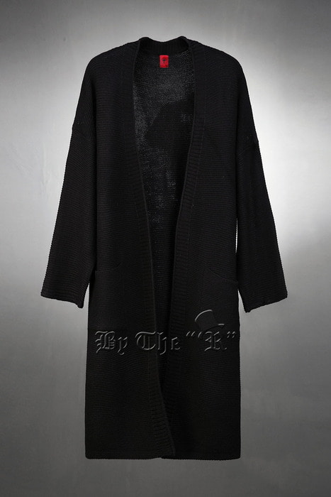 Slitted Long Kint Cardigan