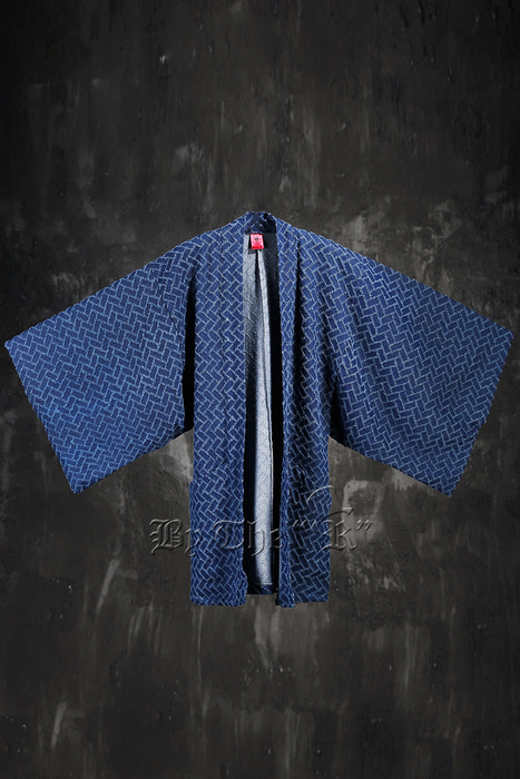 ByTheR Cross Brick Wide Oriental Denim Cardigan(Restock 9/28)