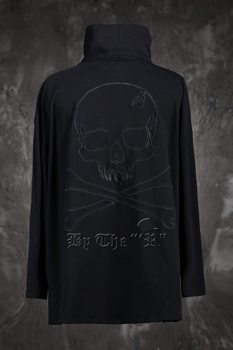 ByTheR Skull Outline Loose Polo T-Shirts