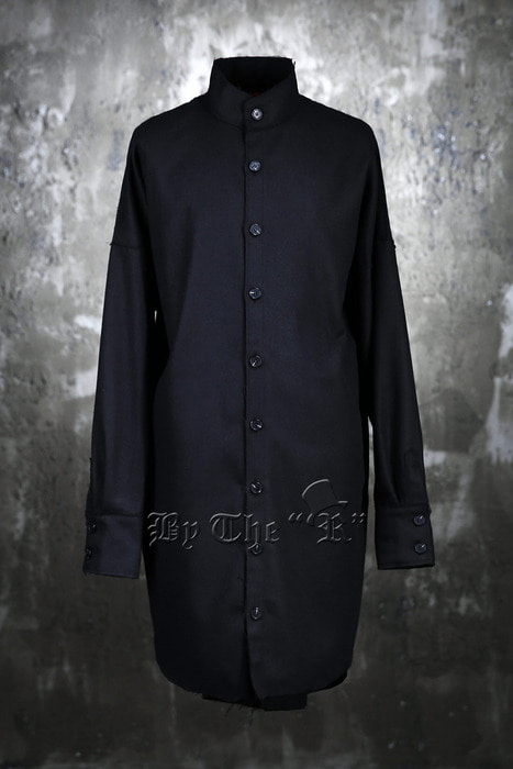 ByTheR Mandarin Collar Yarn Loose Shirts