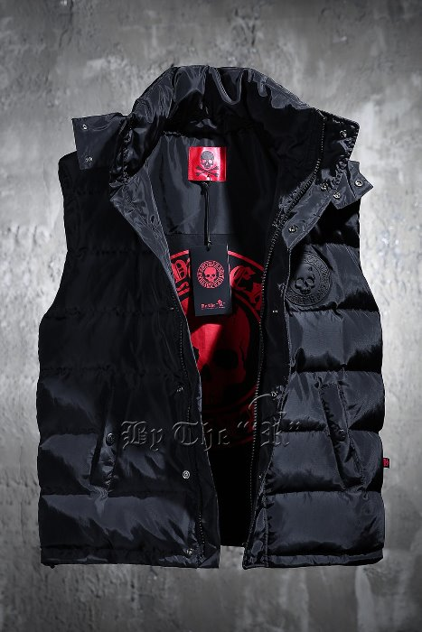 ByTheR Logo Patch Duck-down Puffer Vest