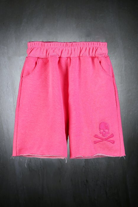 ByTheR Kids Neon Pink Color Cutting Shorts