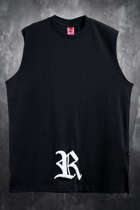 ByTheR Printed Big Letter Logo Sleeveless Shirt