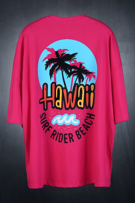 Hawaiian Oversized Loose-fit T-shirt