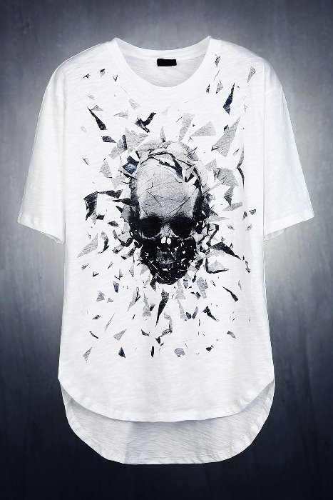 Crushed Skull Slab Short Sleeve T-Shirt