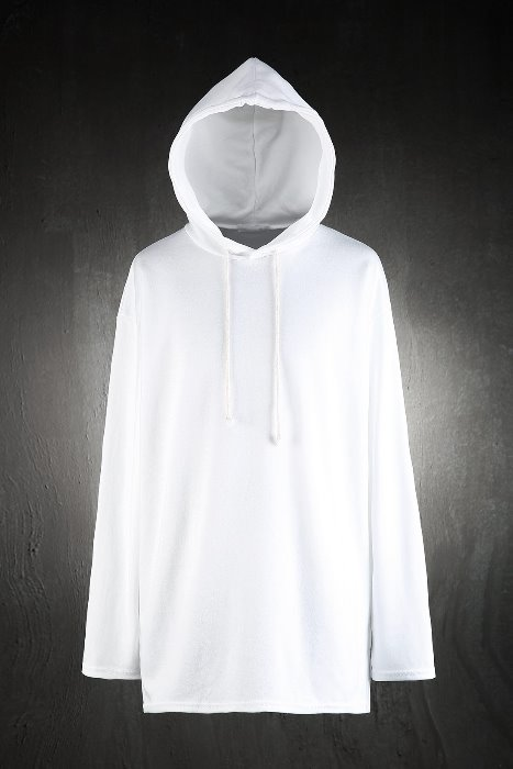 Basic Loose-fit Hooded T-shirt