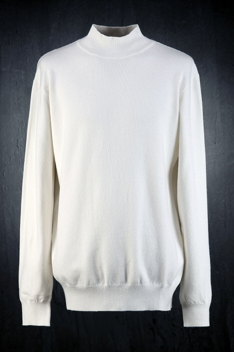 Basic Mock Neck Steve Jobs Knit Tee