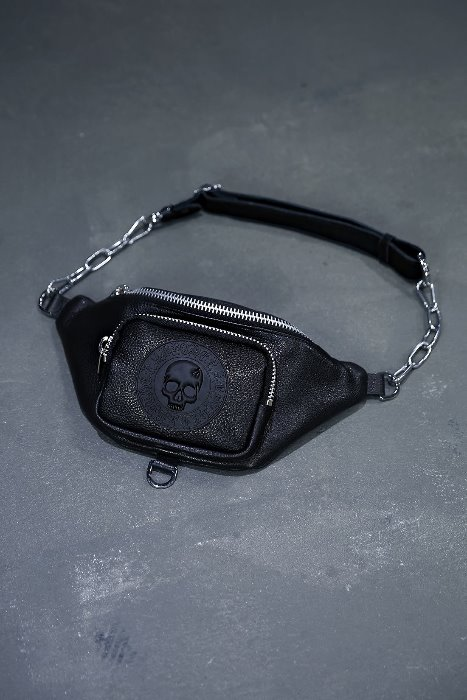 ByTheR Logo-Patch Leather Waist Hip Bag