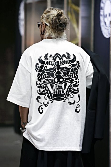 ByTheR Goblin Printing Loose Fit Short Sleeve Tshirt