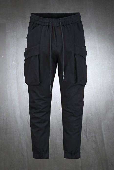 Velcro diagonal pocket jogger trousers