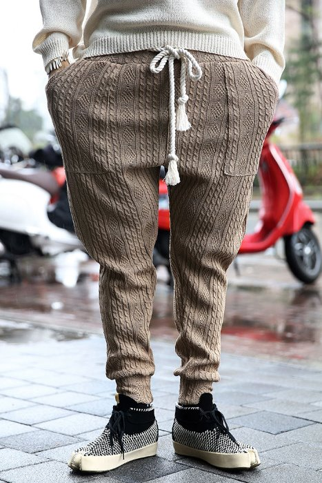 Mukha Rope Twisted Cooling Knit Jogger Pants