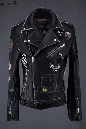 Grunge Leather Rider Jacket