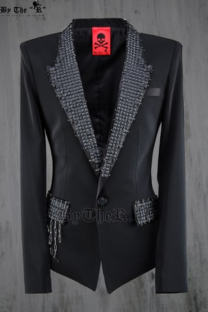 Open Custom Smoking Blazer