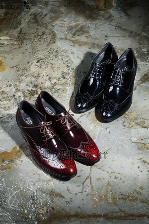 Classic WIngtip Leather Glossy Shoes