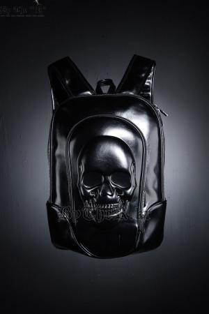 Glossy Skull Embossing Backpack