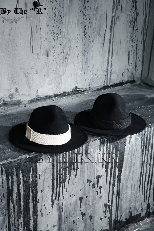ByTher Flat Rope Decoration Mountain Fedora Hat
