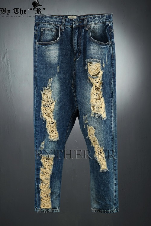Damaged Denim Baggy Jean