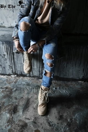 Vintage Casual Ripped Destroyed Slim Denim Jean
