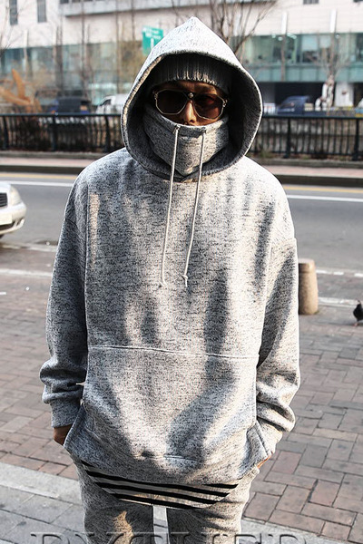 Turtleneck Layered Hoodie T-shirts
