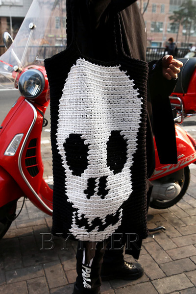 ByTheR Skull Tote Bag