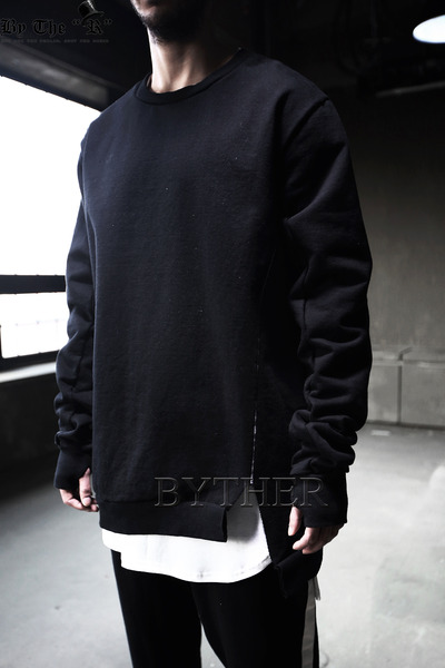 Cut Stitch Cotton Sweatshirt