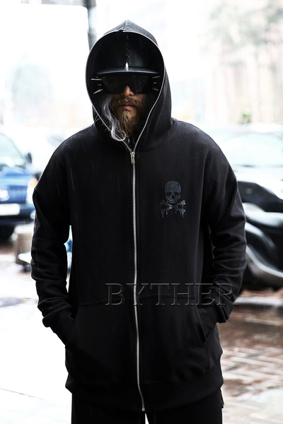 ByTheR Melting Skull Zip-up Hoodie