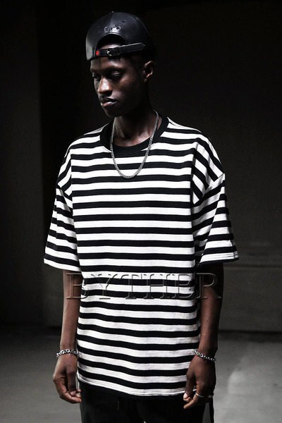 Loose Fit Striped T-shirts